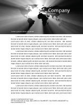 Global: World Light Letterhead Template #04876