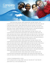 Education & Training: Cultural Diversity Letterhead Template #04914
