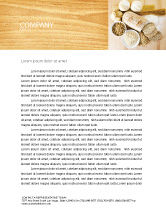 Food & Beverage: Staple Food Letterhead Template #04956