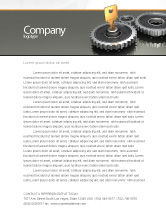 Business Concepts: Key To Lock Mechanism Letterhead Template #04966