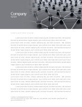 Technology, Science & Computers: Particles Letterhead Template #04977