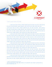 Consulting: Business Indicators Rising Letterhead Template #04985