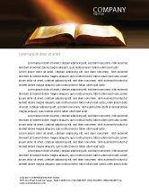 Religious/Spiritual: Holly Book Letterhead Template #04995