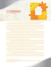 Consulting: Townhouse Planning Letterhead Template #05014