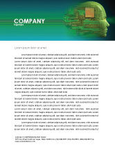 Technology, Science & Computers: High Tech Era Letterhead Template #05057