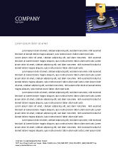 Technology, Science & Computers: Data Protection Key Letterhead Template #05074
