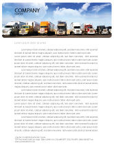 Cars/Transportation: Trucks Letterhead Template #05080