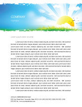 Nature & Environment: Sunrise Illustration Letterhead Template #05081