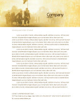 Military: American Civil War Letterhead Template #05086