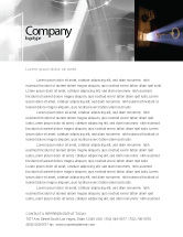 Consulting: Keyhole With Light Beam Letterhead Template #05113