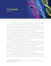 Medical: DNA Spirals Letterhead Template #05117
