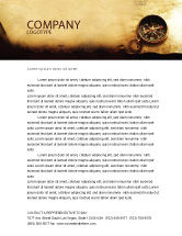 Careers/Industry: Old Map Letterhead Template #05132