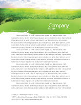 Agriculture and Animals: Aurora Over The Green Field Letterhead Template #05135