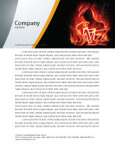 Art & Entertainment: Jazz Letterhead Template #05158