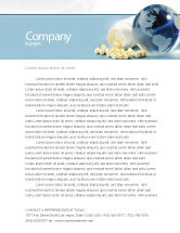 Medical: Bottle Of Tablets With Globe Letterhead Template #05180