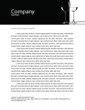 Careers/Industry: Black and White Letterhead Template #05226