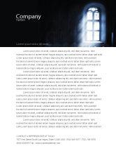 Religious/Spiritual: 教会の窓 - レターヘッドテンプレート #05230