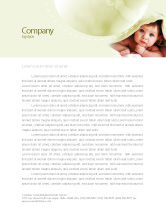 People: Baby Under Blanket Letterhead Template #05234