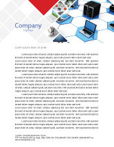 Technology, Science & Computers: Wholesale Electronics Letterhead Template #05235