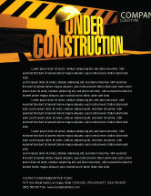 Business Concepts: Closed Under Construction Letterhead Template #05236
