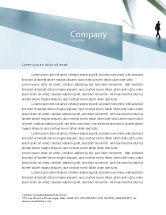 Business: Walking Man Letterhead Template #05240
