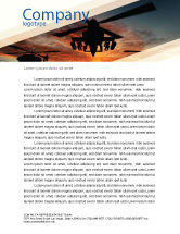 Military: Attack Helicopter Letterhead Template #05247