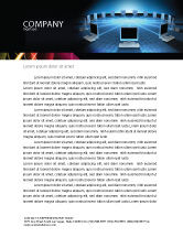 Technology, Science & Computers: Networking Connection Star Type Letterhead Template #05256