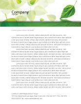 Nature & Environment: Green Leaf Falling Letterhead Template #05260