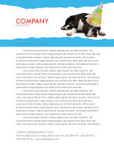 Holiday/Special Occasion: Happy Birthday Puppy Letterhead Template #05265