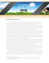 Nature & Environment: Bench Letterhead Template #05275