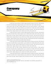 Careers/Industry: Tape Measure Letterhead Template #05282