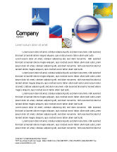 Flags/International: Russian Flag Letterhead Template #05313