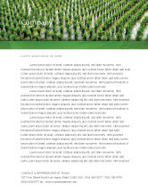 Agriculture and Animals: Rice Paddies Letterhead Template #05325