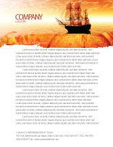 Cars/Transportation: Sailing Ship Letterhead Template #05333