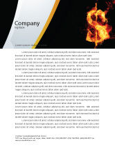 Financial/Accounting: Flaming Dollar Letterhead Template #05347
