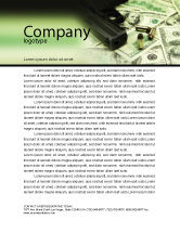 Financial/Accounting: Money and Guns Letterhead Template #05349