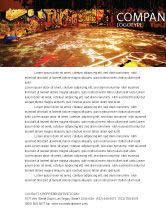 Art & Entertainment: Modello Carta Intestata - Zona di graffiti #05376