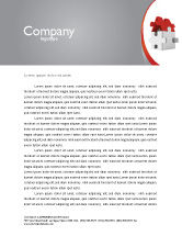 Financial/Accounting: House Puzzle Letterhead Template #05387