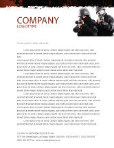 Military: SWAT Letterhead Template #05404