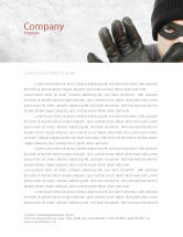 Legal: Masked Man Letterhead Template #05417
