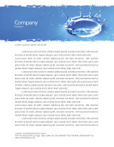 Nature & Environment: Blue Water Splash Briefpapier Template #05444