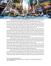 Construction: Times Square Letterhead Template #05456