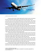 Cars/Transportation: Modern Plane Letterhead Template #05474