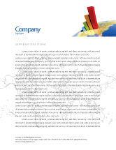 Business Concepts: Economic Indexes Letterhead Template #05500
