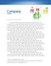 Careers/Industry: Social Network Communication Letterhead Template #05548