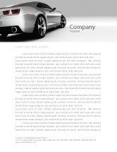 Cars/Transportation: Car Letterhead Template #05566
