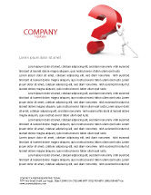 Consulting: Question Letterhead Template #05578