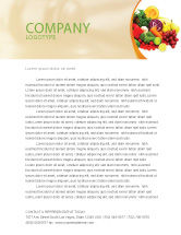 Agriculture and Animals: Fruits and Vegetables Letterhead Template #05579