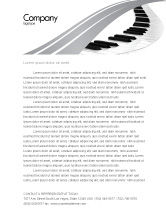 Careers/Industry: Piano Letterhead Template #05616