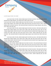 Education & Training: Graduation In Red Blue Colors Letterhead Template #05620